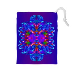 Abstract 5 Drawstring Pouches (Large)