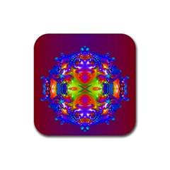 Abstract 6 Rubber Square Coaster (4 Pack)