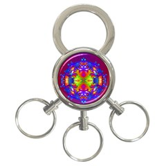 Abstract 6 3-Ring Key Chains