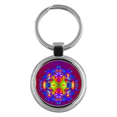 Abstract 6 Key Chains (round)