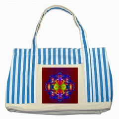 Abstract 6 Striped Blue Tote Bag
