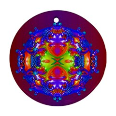 Abstract 6 Round Ornament (Two Sides)