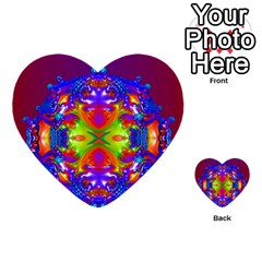 Abstract 6 Multi Purpose Cards (heart)
