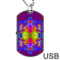 Abstract 6 Dog Tag USB Flash (One Side)