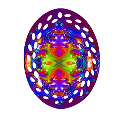 Abstract 6 Oval Filigree Ornament (2-Side)