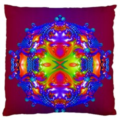 Abstract 6 Large Cushion Cases (Two Sides)