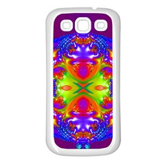 Abstract 6 Samsung Galaxy S3 Back Case (White)