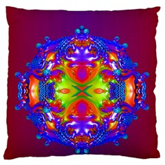 Abstract 6 Large Flano Cushion Cases (One Side)