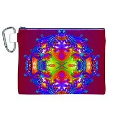 Abstract 6 Canvas Cosmetic Bag (XL)