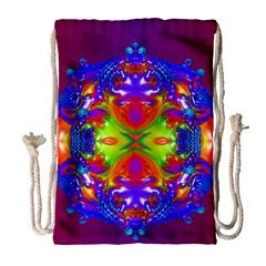 Abstract 6 Drawstring Bag (Large)