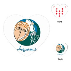 Aquarius Star Sign Playing Cards (Heart)