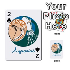 Aquarius Star Sign Playing Cards 54 Designs