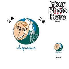 Aquarius Star Sign Playing Cards 54 (Heart)