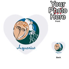 Aquarius Star Sign Multi Purpose Cards (heart)