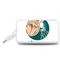 Aquarius Star Sign Portable Speaker (White)