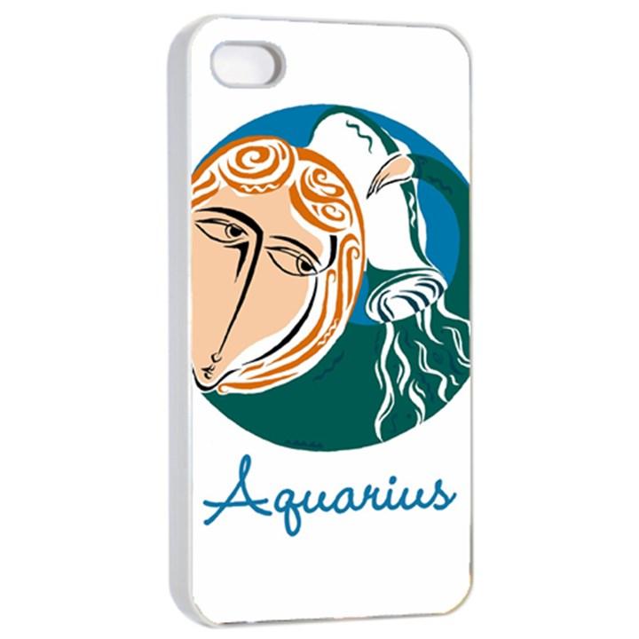 Aquarius Star Sign Apple iPhone 4/4s Seamless Case (White)