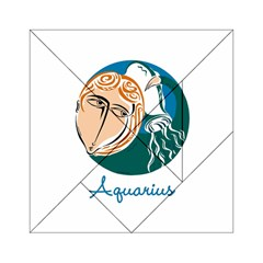 Aquarius Star Sign Acrylic Tangram Puzzle (6  x 6 )