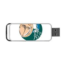 Aquarius Star Sign Portable USB Flash (Two Sides)