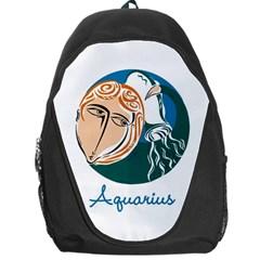 Aquarius Star Sign Backpack Bag