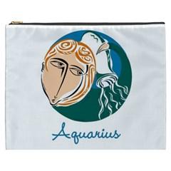 Aquarius Star Sign Cosmetic Bag (XXXL)