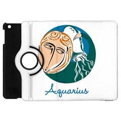 Aquarius Star Sign Apple iPad Mini Flip 360 Case