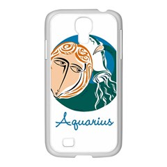 Aquarius Star Sign Samsung GALAXY S4 I9500/ I9505 Case (White)