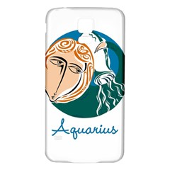 Aquarius Star Sign Samsung Galaxy S5 Back Case (White)
