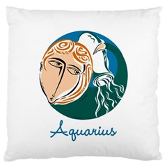 Aquarius Star Sign Large Flano Cushion Cases (One Side)