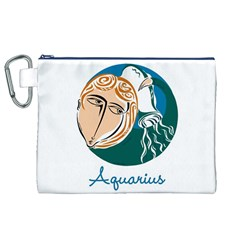 Aquarius Star Sign Canvas Cosmetic Bag (XL)