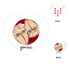 Gemini Star Sign Playing Cards (Heart)