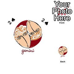 Gemini Star Sign Playing Cards 54 (heart)