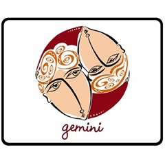 Gemini Star Sign Fleece Blanket (Medium)