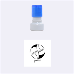 Gemini Star Sign Rubber Round Stamps (small)