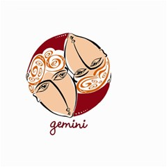 Gemini Star Sign Small Garden Flag (Two Sides)
