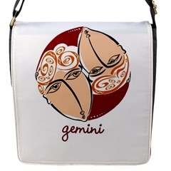 Gemini Star Sign Flap Messenger Bag (S)