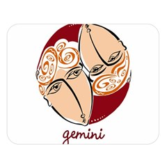 Gemini Star Sign Double Sided Flano Blanket (Large)
