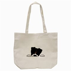 Bern Mt Dog Peeping Dog Tote Bag (Cream)