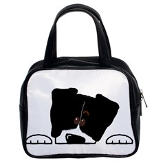 Bern Mt Dog Peeping Dog Classic Handbags (2 Sides)