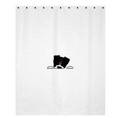 Bern Mt Dog Peeping Dog Shower Curtain 60  x 72  (Medium)