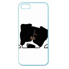 Bern Mt Dog Peeping Dog Apple Seamless iPhone 5 Case (Color)