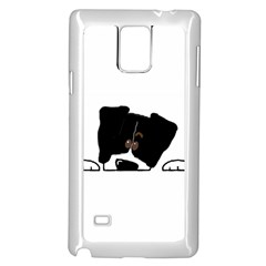 Bern Mt Dog Peeping Dog Samsung Galaxy Note 4 Case (White)