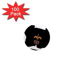 Peeping Bernese Mountain Dog 1  Mini Magnets (100 pack)