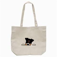 Peeping Bernese Mountain Dog Tote Bag (Cream)