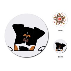 Peeping Bernese Mountain Dog Playing Cards (Round)