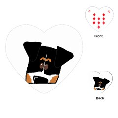 Peeping Bernese Mountain Dog Playing Cards (Heart)