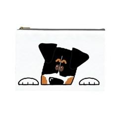 Peeping Bernese Mountain Dog Cosmetic Bag (Large)