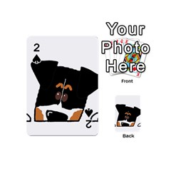 Peeping Bernese Mountain Dog Playing Cards 54 (Mini)