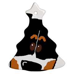 Peeping Bernese Mountain Dog Christmas Tree Ornament (2 Sides)