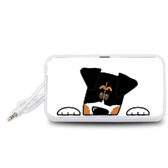 Peeping Bernese Mountain Dog Portable Speaker (White)