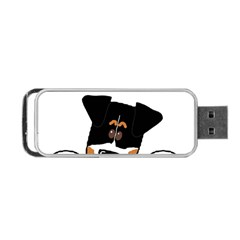 Peeping Bernese Mountain Dog Portable USB Flash (One Side)